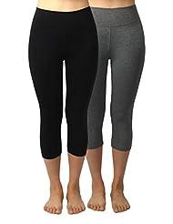 4How Women's Cotton Spandex Capri Yoga Pants