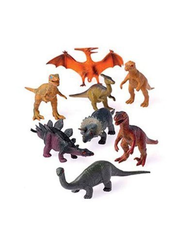 (12 - Assorted Medium Sized Plastic Toy Dinosaurs Play set figures.)