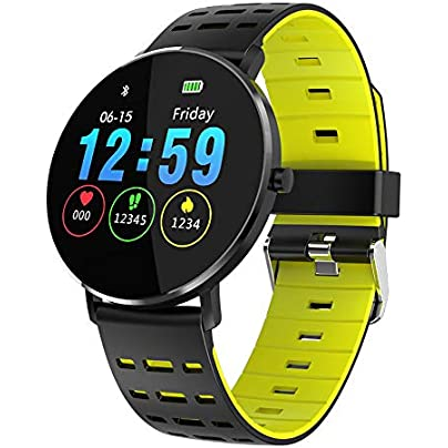 GOPG FKING Smart Wristband Touch Screen Round Screen Men and Women Step Heart Rate Sleep Multi-function Waterproof Sports Watch Estimated Price £74.37 -