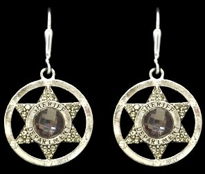From the Heart Sheriff Earrings with Blue Gray Multifaceted Crystal in the Center & Star inside of Circular Charm. Sheriff Department is Engraved on the Circle. Arrives in a Gift Box. Perfect Gift for a Sheriff,Sheriff's Wife,or any Employee in the Office. Show PRIDE in your much Appreciated & Valued Career! She will love it!!!