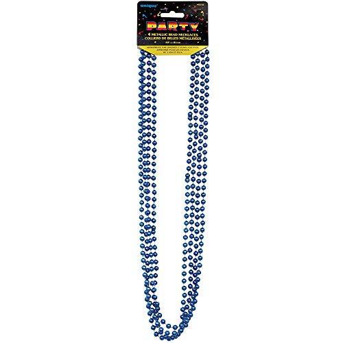 Metallic Blue Mardi Gras Beads