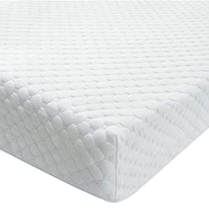 BlueSnail Bamboo Rayon Quilted Pack N Play Crib Mattress Cover – Fits All Baby Portable Mini Cribs, Play Yards and Foldable Mattresses (Off White)