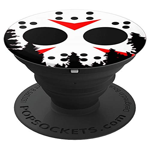 Friday 13th Halloween Hockey Mask moon pop socket - PopSockets Grip and Stand for Phones and Tablets]()