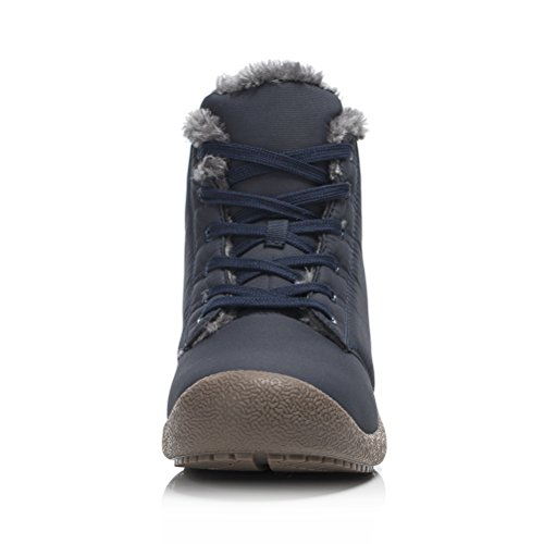 High Top Fur Booties Men Warm Waterproof for Boots Lined Outdoor Winter Dannto Women Snow Blue Shoes Ankle EqgftxWAwF