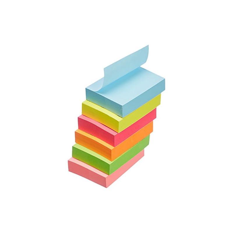 "AmazonBasics Sticky Notes - 1 3/8"" x 1 7"