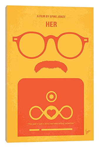 Her Movie Poster - iCanvasART Her Minimal Movie Poster Canvas Print, 40
