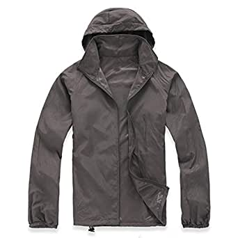 Lanbaosi Women's Super Lightweight Uv Protect+Quick Dry Waterproof Skin Jacket (X-Small, Dark Grey)