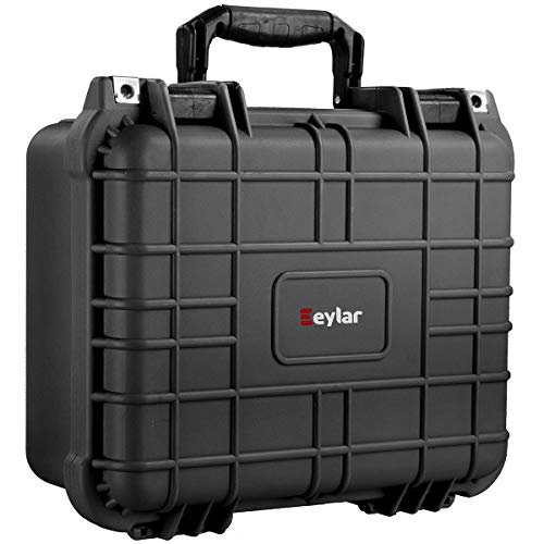 Eylar Tactical Hard Gun Case Water & Shock Proof with Foam TSA Approved 13.37 Inch 11.62 Inch 6 Inch Black