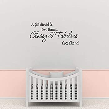 Empresal A Girl Should be Two Thing Classy & Fabulous Coco Chanel Wall Quote Wall Decals Wall Decals Quotes