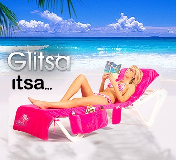 Pink Glitsa Sun lounger cover /& beach bag