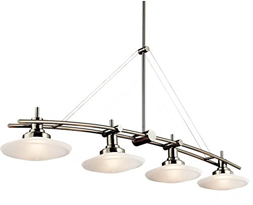 Kichler 2043NI Structures Linear Chandelier 4-Light Halogen, Brushed Nickel from KICHLER