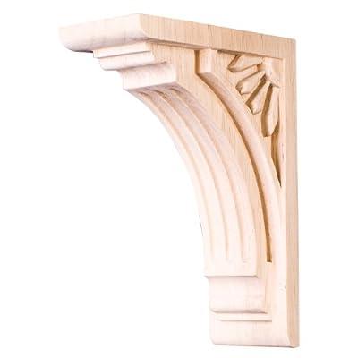 Home Decor COR5-1RW Art Deco Corbel - Rubberwood