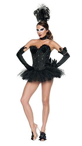 Swan Halloween Costumes (Starline Women's Swan Costume Set, Black, Small)
