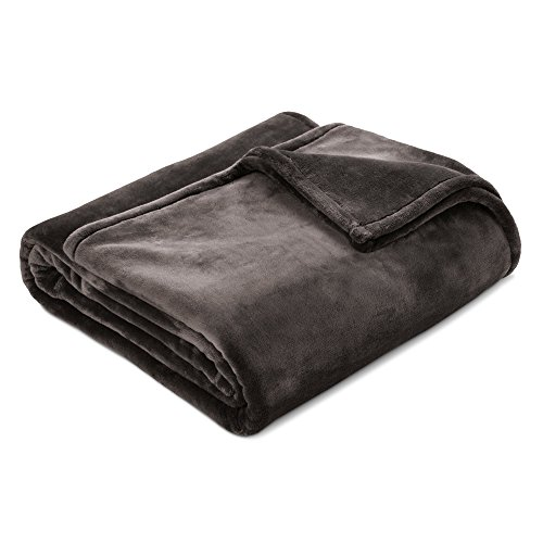 Threshold Ultra Soft Microplush Bed Blanket (Full/Queen, Hot Coffee)