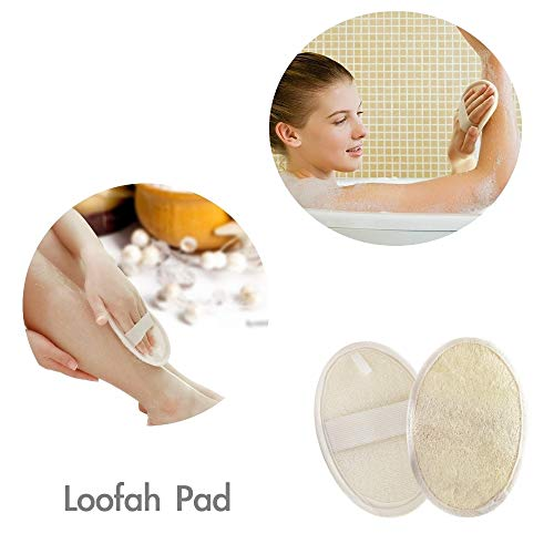 FYD Loofah Luxury Home Spa Gift Set All in One - Loofah Sponges,Loofah Belt, Loofah Long Handle, Loofah Pads Exfoliating Set Improve Skin Health and Cellulite Blood Circulation by FYD (Image #1)