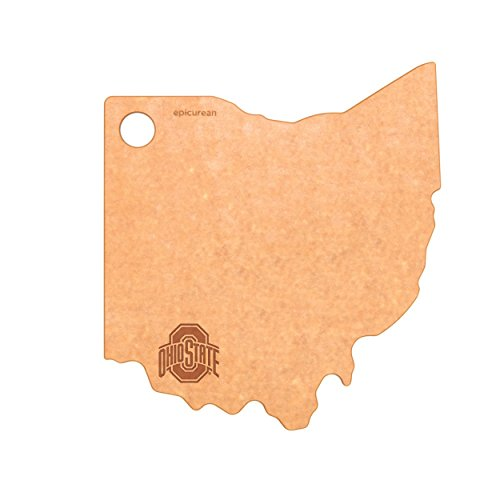 Epicurean Ohio State University Buckeyes Cheese Board, Natural/Slate