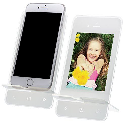 - Acrylic Cell Phone Stand with Photo