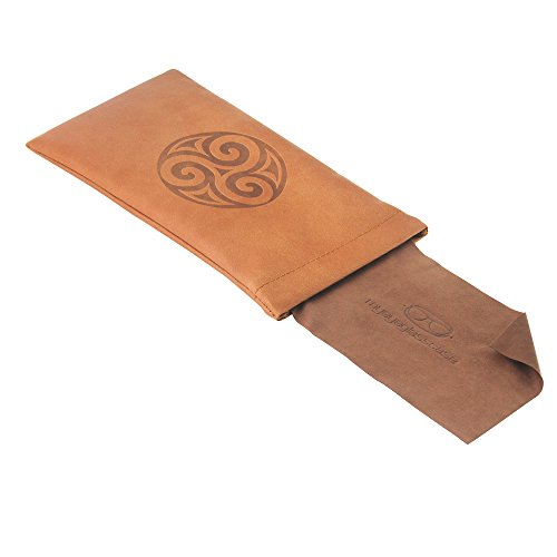Squeeze Top Slip In Eyeglass & Sunglasses Pouch | Medium or Large Size | For Men and Women | (CT8 Triskelion)