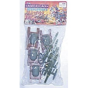 8 Piece Set of Cannon and Mortar Artillery for 48mm-60mm Plastic Army Men