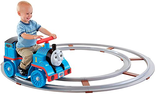 Power Wheels Thomas & Friends, Thomas Train with Track [Amazon Exclusive] (Plastic Wheel Wagon)