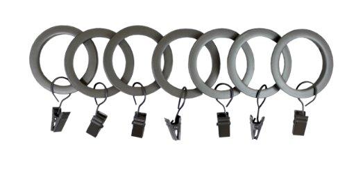 (UMBRA 1-Inch Square-Edge Clip Drapery Rings (Pewter))