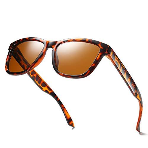ELITERA Women Sunglasses Famous Lady Designer Gradient Colors Polarized Glasses UV400 E0717 (Leopard, 53) -