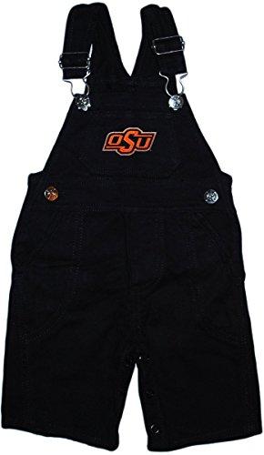 Oklahoma State University OSU Cowboys Baby Overalls Black