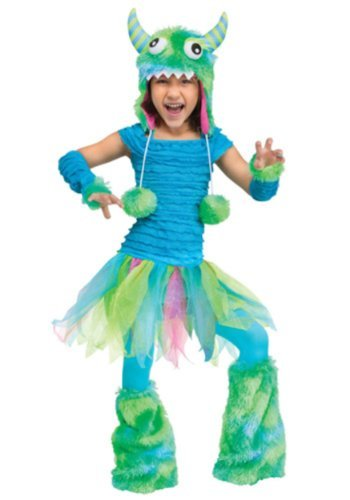 Fun World Costumes Baby Girl's Beastie Toddler Costume, Blue, Large(3T-4T)