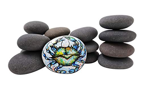 Painting Rocks by BasaltCanvas - Size 2 - Kindness Rocks for Painting - Very Smooth Surface - Easy to Paint - 15 Stones Ranging from 3.0 to 4.5 inches