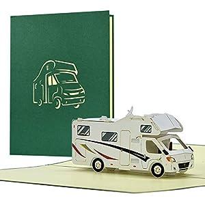 41h1jSv0JpL. SS300 Geburtstagskarte mit Pop Up Wohnmobil | Karte Geburtstag mit 3D Wohnwagen als Reisegutschein | Gutschein Urlaub…