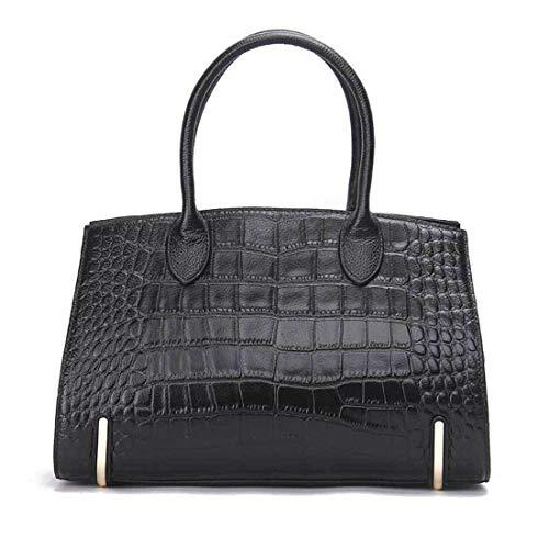 Para Mujer Cocodrilo Diagonal Moda Hombro Black De Mano Patrón color Casual Cuero Bolso Bolsos Black Olprkgdg Paquete wFqxItnE7T