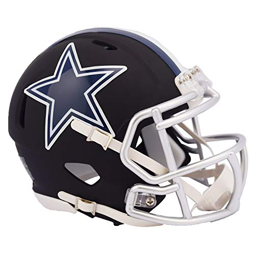 Dallas Cowboys NFL Black Matte Alternate Speed Mini Football Helmet