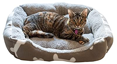 """Pet Bed *Special Holiday Offer* - Chai's Choice Comfort Cushion 22""""x18""""x6"""". Surround Your Small and Medium sized Dog, Cat, or other Small Animal with this Cozy Soft Plush Fleece Bed!"""