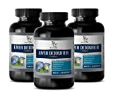 Liver Function Vitamins - Liver DETOXIFIER Complex 825MG - Extra Strength Formula - lipase Enzyme Supplement - 3 Bottles 180 Capsules