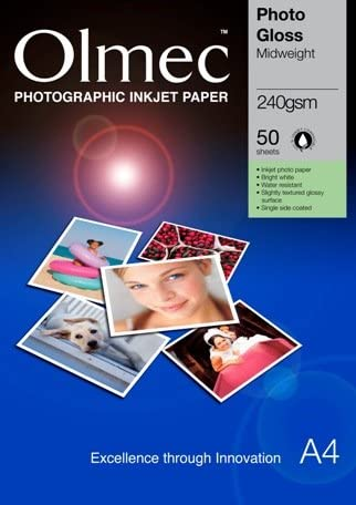 Olmec Photo Glossy 240gsm A4 Box 50 Sheets