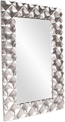 Howard Elliott 43111 Krystal Modern Mirror, Silver