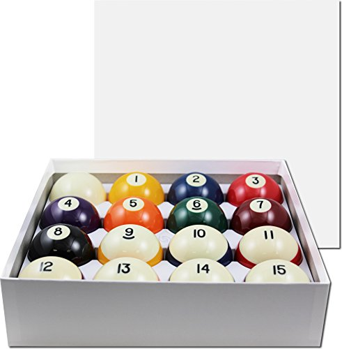 Aramith-2-14-Regulation-Size-Crown-Standard-BilliardPool-Balls-Complete-16-Ball-Set