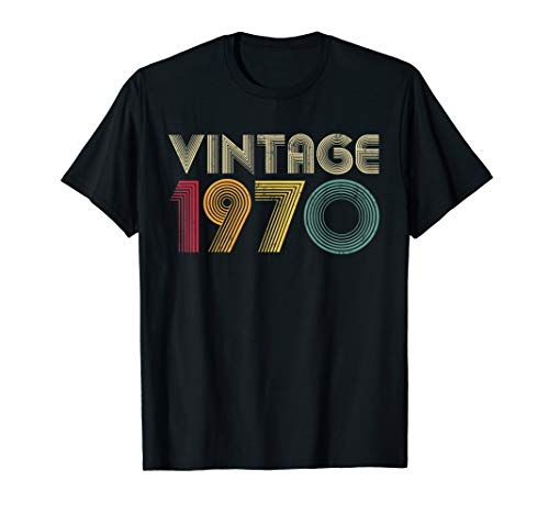 1970 Womens Retro T-shirt - Retro 1970 50th Birthday T-Shirt Gift Classic Men Women Mom
