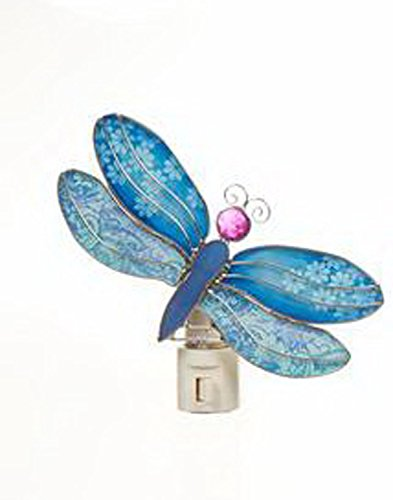 Blue Dragonfly Night Light (Blue Glass Dragonfly Night Light by)