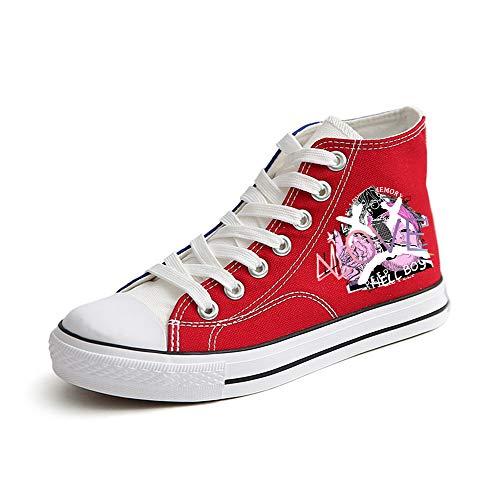 Calzado Personalidad Clásicos De Tendencia Red08 Dibujos Logo Con Lienzo Alta Impresión Zapatos Lil Peeps Deportivo Nuevos Moda Animados Cómodo Unisex Gama qxBOO7pTw