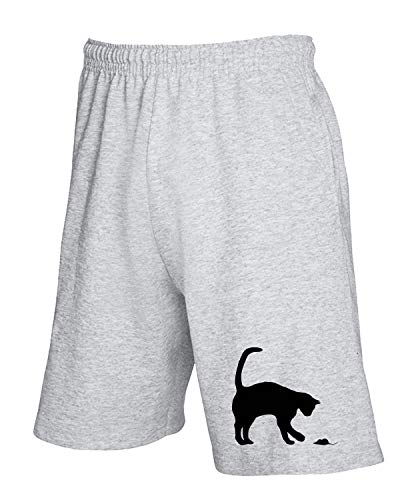T Tuta Cat Domestic Grigio Wes0589 Mouse And shirtshock Pantaloncini gYEwxXgqr