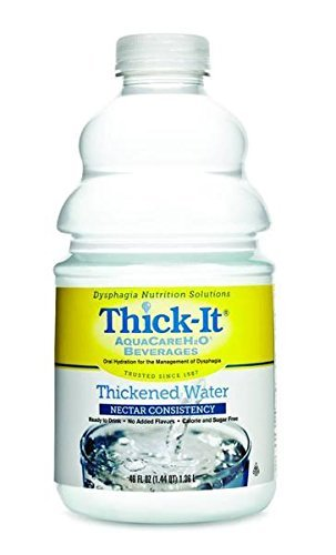 Thick-It Thick-It Aquacare Thickened Water Nectar Consistency, 46 oz (Pack of 2)
