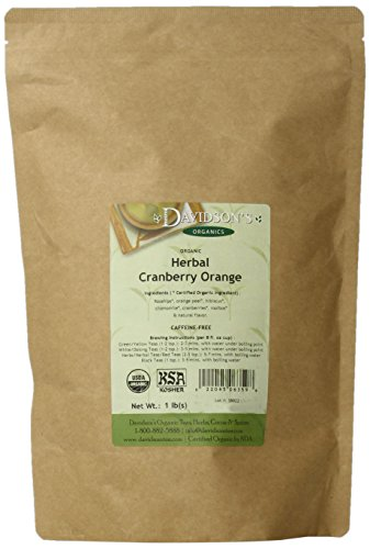 Davidson's Tea Bulk, Herbal Cranberry Orange, 16-Ounce Bag
