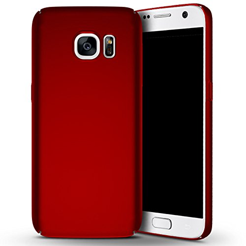 Galaxy S7 Case, Sincase [Non Slip] Ultra Thin Excellent Grip Smoothly Frosted Samsung S7 Bumper [Scratch Resistant] Lightweight Coated Hard PC Cover Shell for Samsung Galaxy S7, Red