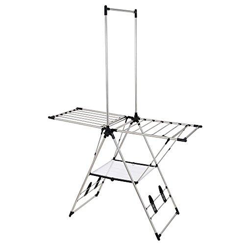 Greenway Indoor Outdoor Drying Rack with Mesh Shelf/GFR2019SS 42' Hanging Bar Rack