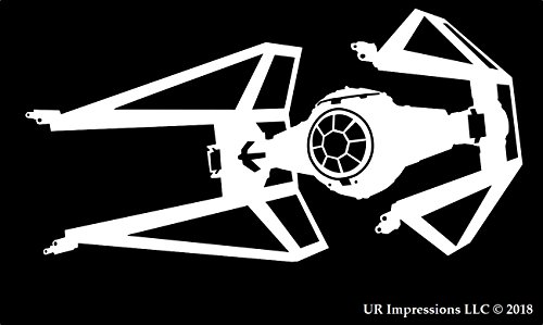 T.I.E Interceptor Saber Star Wars Inspired Decal Vinyl Sticker|Cars Trucks Walls Laptop|WHITE|5.5 X 3.2 In|URI244