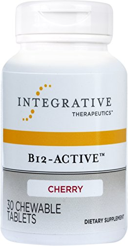 Integrative Therapeutics - B12-Active - Fast-Absorbing Methylcobalamin - Cherry Flavor - 30 Chewable Tablets