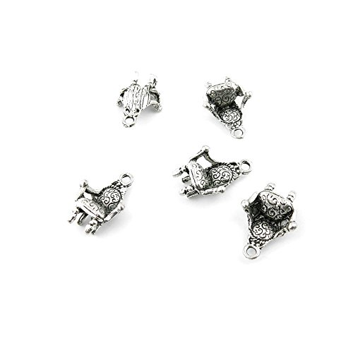 - 30 Pieces Antique Silver Fashion Jewelry Making Charms Findings KFLR0 Chair Sofa Supplies Craft Vintage Bulk Retro DIY Lots Repair Jewellery