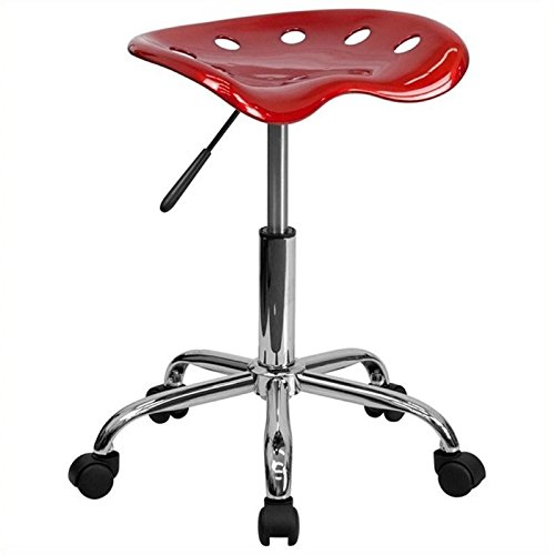 (Scranton & Co Adjustable Bar Stool and Tractor Seat in Wine Red)