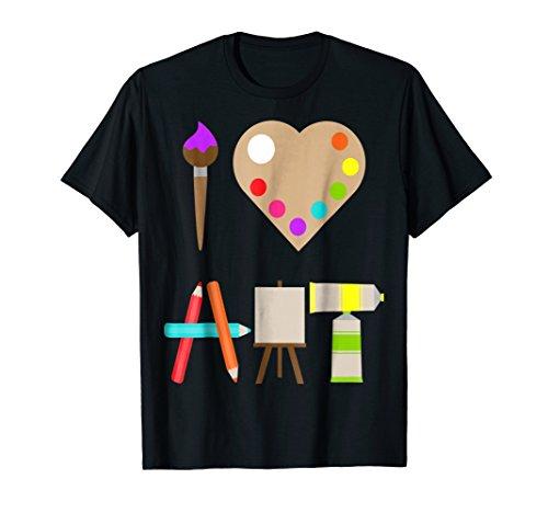 I LOVE ART FUN COLORFUL FUTURE ARTIST AND CRAFTS T-SHIRT Artist Kids Dark T-shirt
